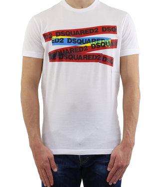 Dsquared2 Dsquared2 : T-shirt color tape White
