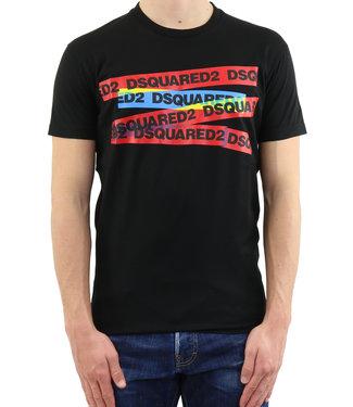 Dsquared2 Dsquared2 : T-shirt color tape Black