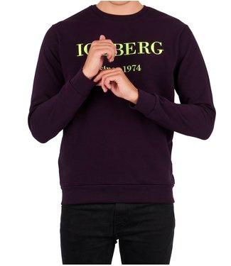 ICEBERG Iceberg : Embroidered logo Sweater Purple
