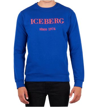 ICEBERG Iceberg : Embroidered logo Sweater Blue