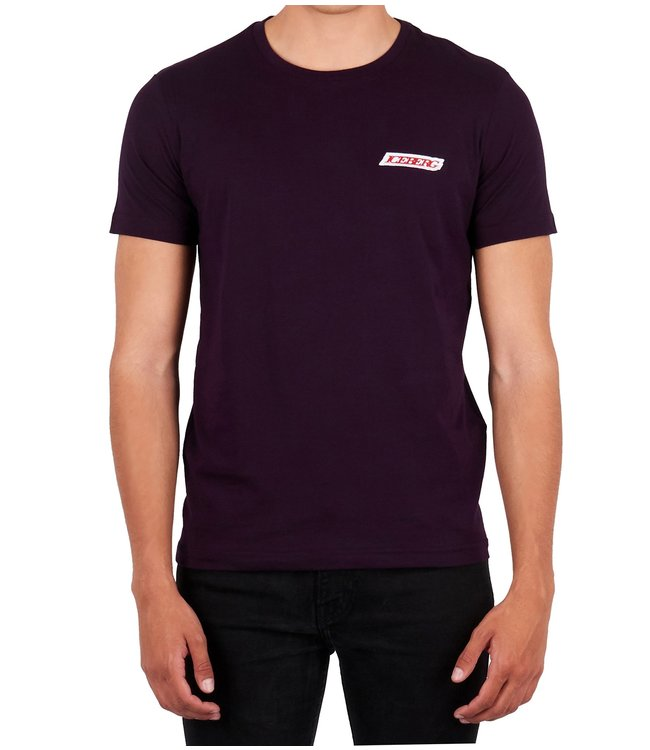 ICEBERG Iceberg : T-shirt Patch logo-Purple