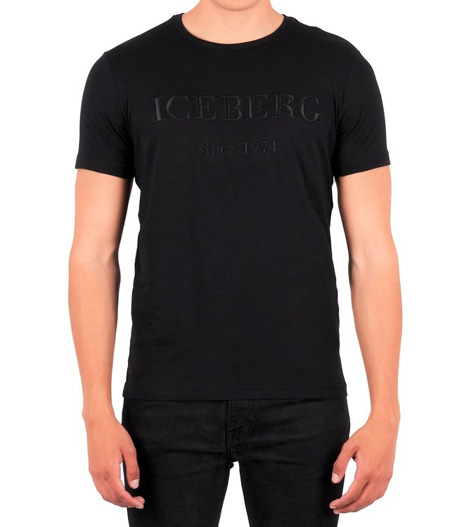 ICEBERG Iceberg : T-shirt Embroidered logo TT Black