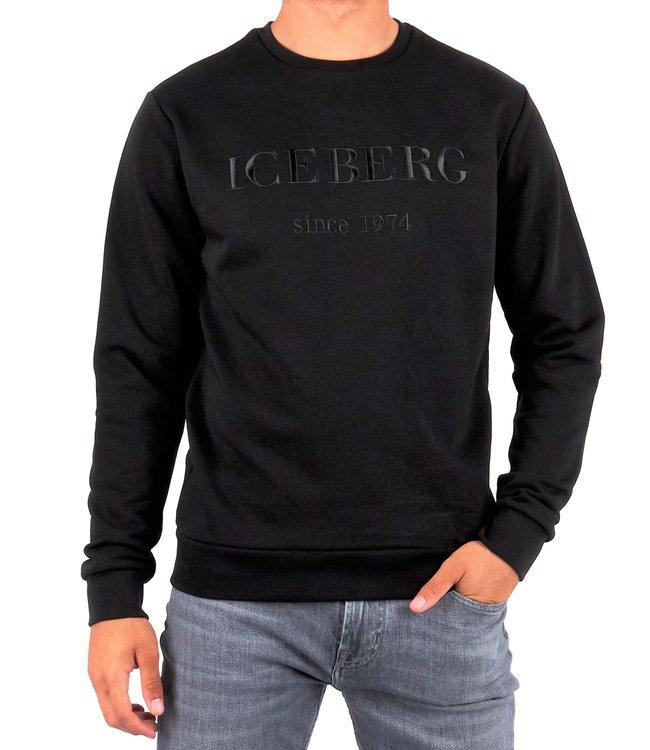 ICEBERG Iceberg : Embroidered logo Sweater Black