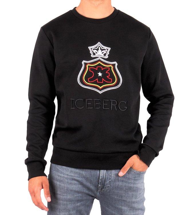 ICEBERG Iceberg : Sweater Crown Logo Black
