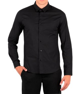 Versace Jeans couture Versace jeans Couture : Shirt slim basic embr Logo Black