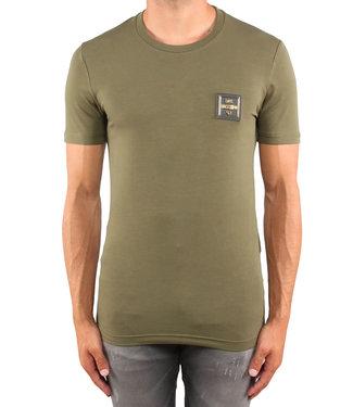 Love moschino Love Moschino : T-shirt slim placca Green