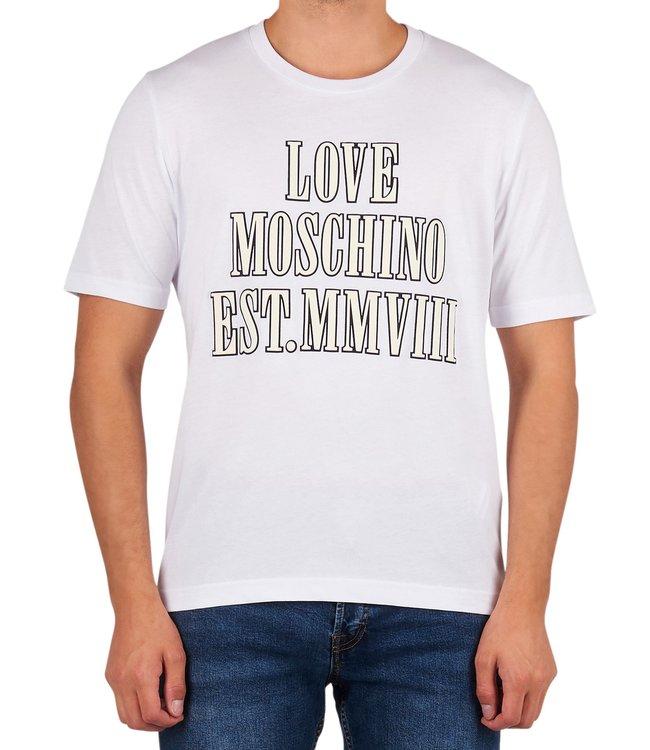 Love moschino Love Moschino : T-shirt 3D logo White