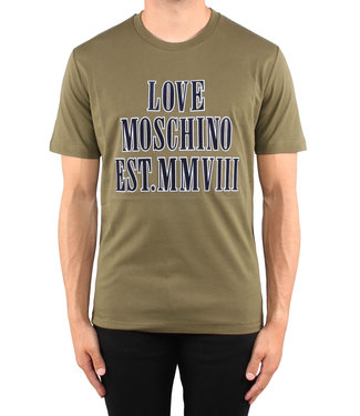 Love moschino Love Moschino : T-shirt 3D logo Green