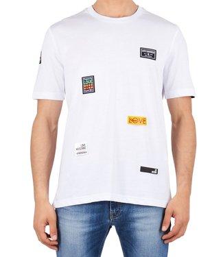 Love moschino Love Moschino : T-shirt patch logo White