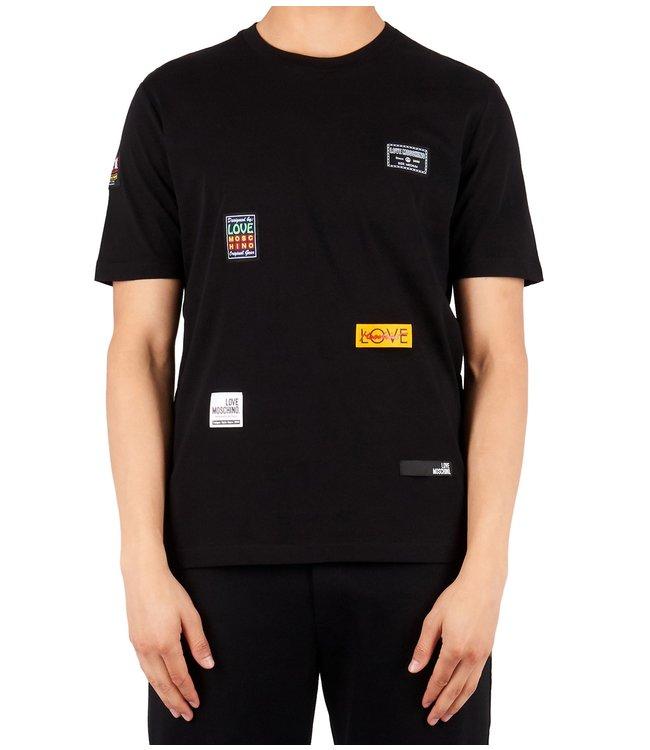 Love moschino Love Moschino : T-shirt patch logo Black