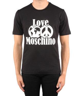 Love moschino Love Moschino :T-shirt world peace logo Black