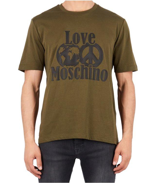 Love moschino Love Moschino :T-shirt world peace logo Green