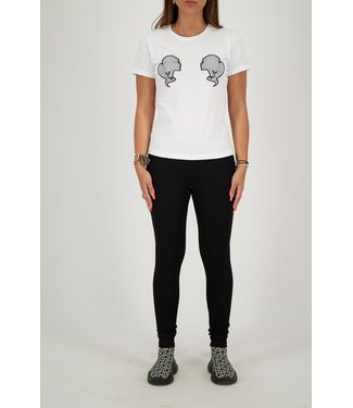 Reinders Reinders : T-shirt Slim Head logo White/Black
