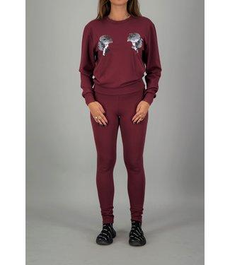 Reinders Reinders : Sweater Head logo Burg/Silver