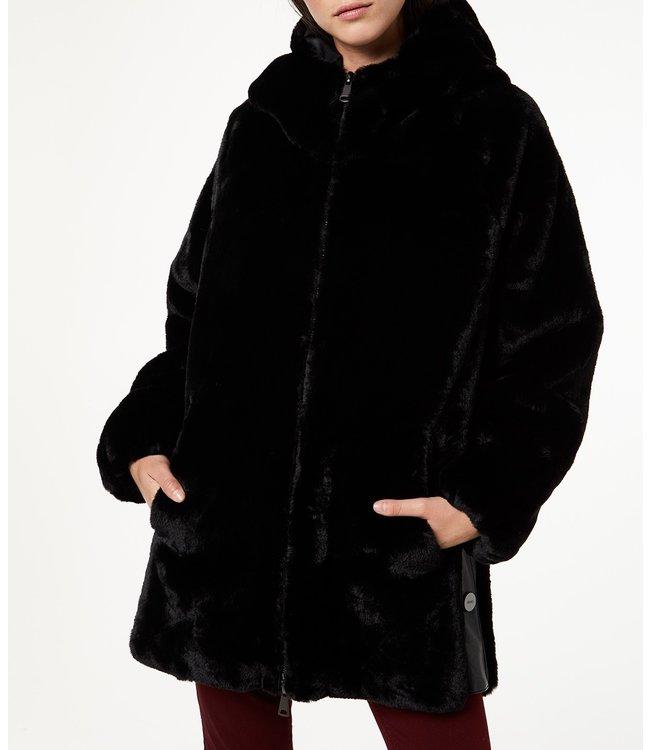 LiuJo LiuJo : Jacket faux fur Black