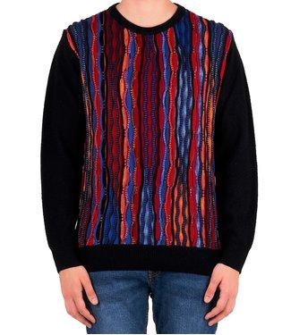 Carlo colucci CARLO COLUCCI : Sweater C8201-Blue-red