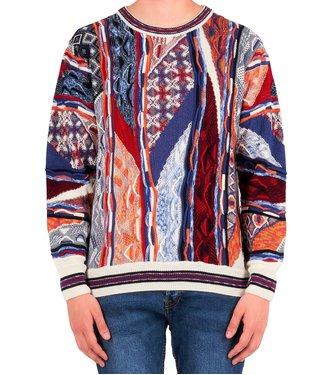 Carlo colucci CARLO COLUCCI : Sweater C9604 Blue-orange