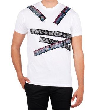 Dsquared2 Dsquared2 : T-shirt logo tape White