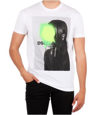 Dsquared2 Dsquared2 : T-shirt Green spot White