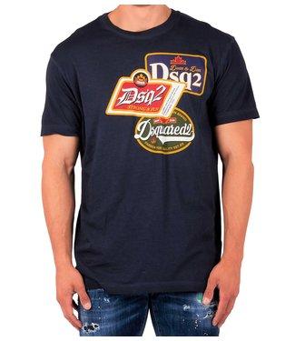 Dsquared2 Dsquared2 : T-shirt Patch logo Blue