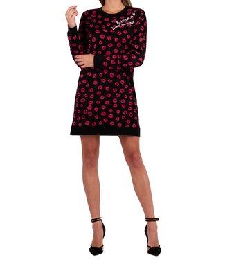 Love moschino Love Moschino : Dress kisses Black