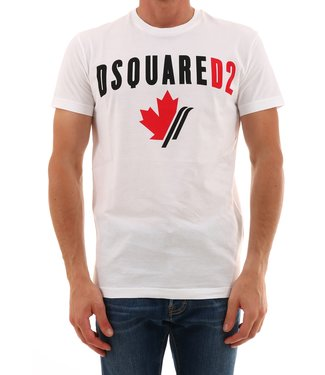 Dsquared2 Dsquared2 : T-shirt maple leaf logo White