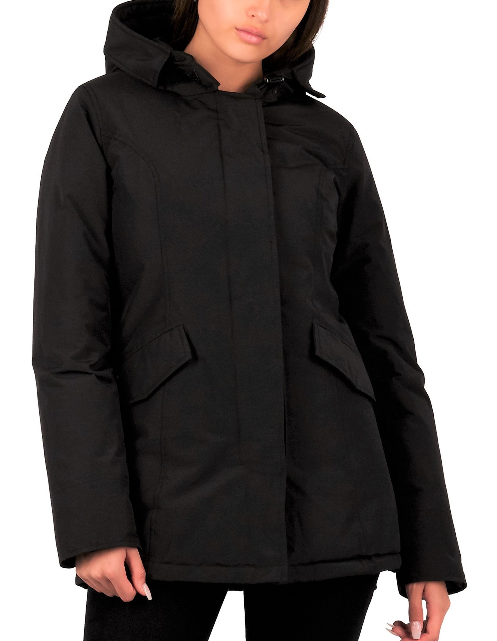 Airforce : 2 pocket parka HRW0425 Black