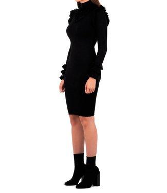 Reinders Reinders : Dress marie ruffle Black