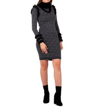 Reinders Reinders : Dress marie ruffle Rrprint Grey