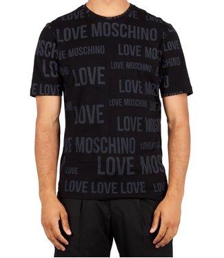 Love moschino Love Moschino : T-shirt Moschino all over-Black-M473200M4084