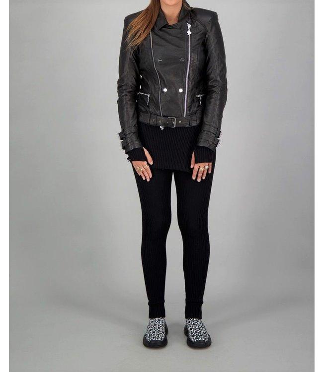 Reinders Reinders : Leather Jacket-Black-Silver