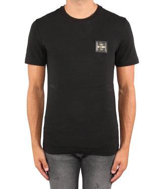 Love moschino Love Moschino : T-shirt slim placca Black