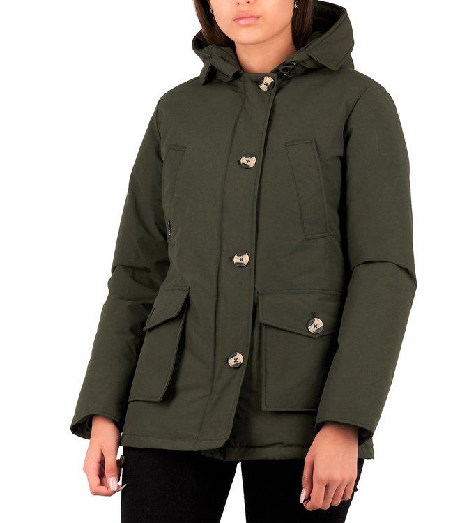 Air Force dames parka winterjas 4 pocket army green