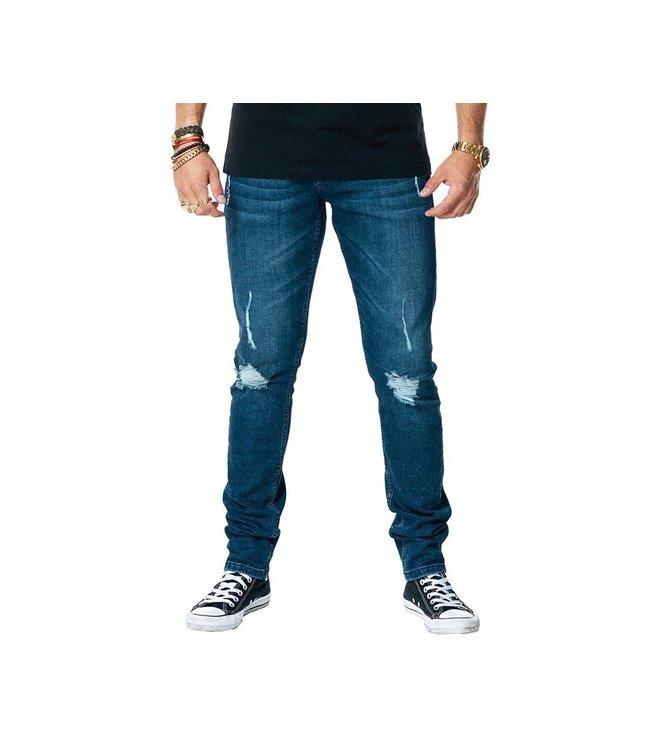 AH6 AH6 : Jeans 113 damadge-Blue