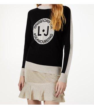 LiuJo LiuJo : Sweater glamorizing logo Black