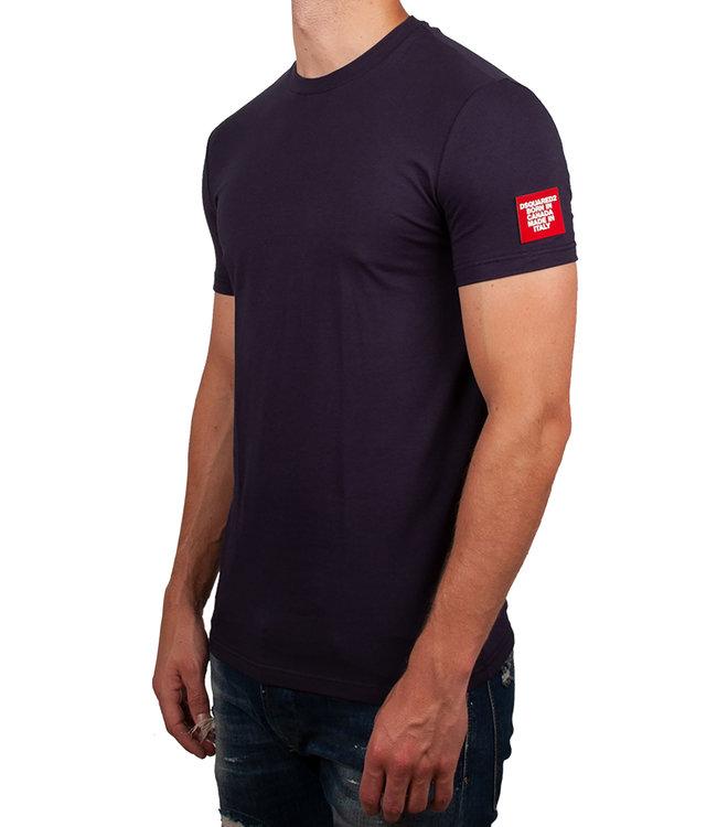 Dsquared2 Dsquared2 : T-shirt patch arm logo Navy-D9M202460