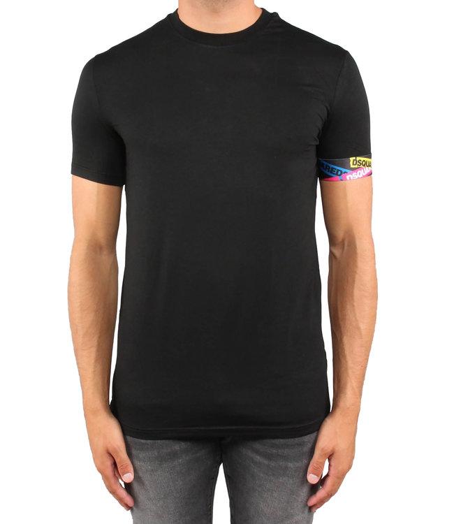 Dsquared2 Dsquared2 : T-shirt tape arm logo Black-D9M202490