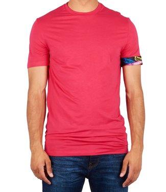 Dsquared2 Dsquared2 : T-shirt tape arm logo Pink