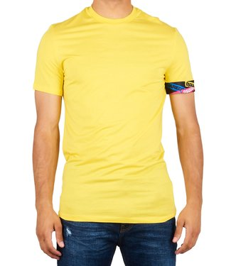 Dsquared2 Dsquared2 : T-shirt tape arm logo Yellow