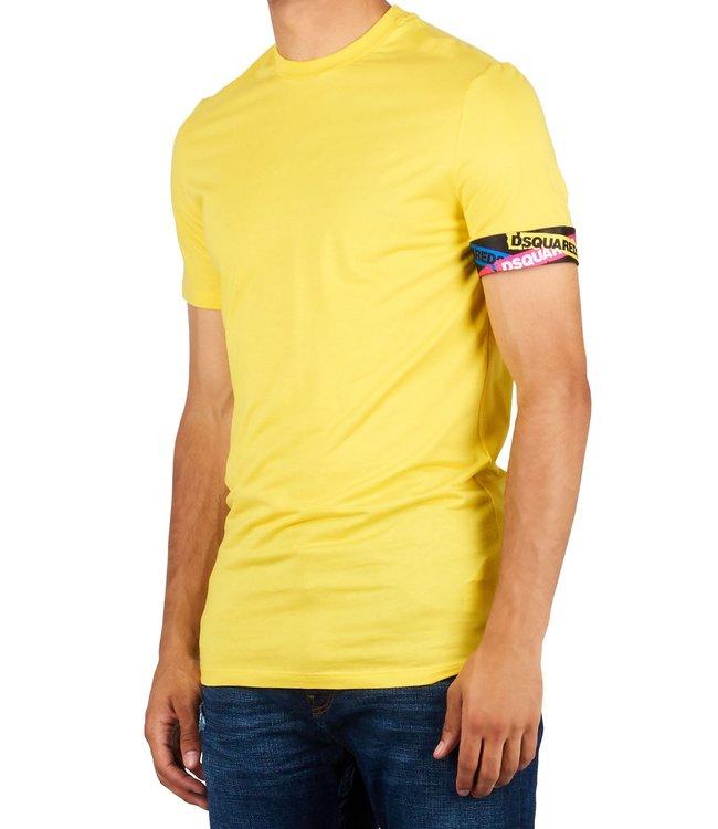 Dsquared2 Dsquared2 : T-shirt tape arm logo Yellow-D9M202490