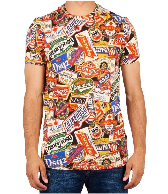 Dsquared2 Dsquared2 : T-shirt multi logo-D9M202520