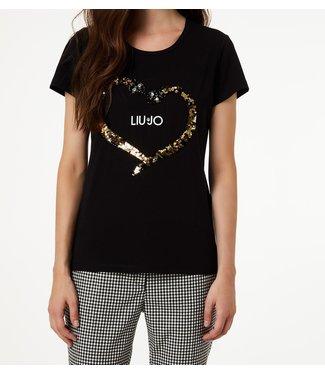 LiuJo LiuJo : T-shirt serpent Black-F69464