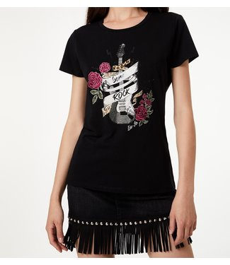 LiuJo LiuJo :T-shirt Rock guitar Black