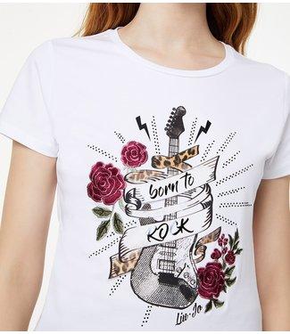 LiuJo LiuJo :T-shirt Rock guitar White