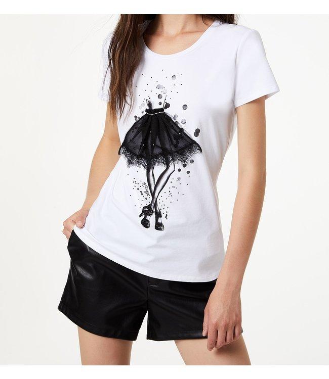 LiuJo LiuJo : T-shirt – hot fixed White