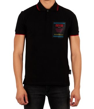 Versace Jeans couture Versace Jeans : Polo 622 label reg.Black