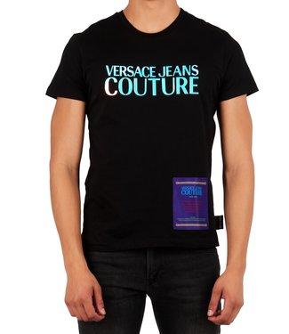 Versace Jeans couture Versace Jeans : T-shirt logo azure foil Black