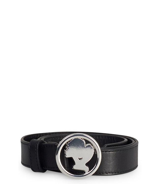 Reinders Reinders : Leather head logo belt-Silver