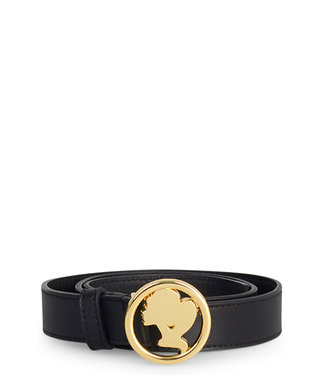 Reinders Reinders : Leather head logo belt-Gold