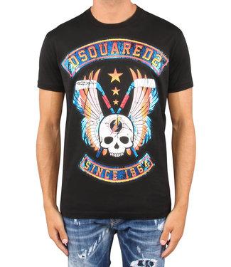 Dsquared2 Dsquared2 : T-shirt winged skull-II-Black